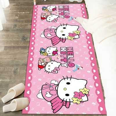 可爱卡通地毯卧室床边毯儿童房满铺网红少女心卫生间厨房进门地垫