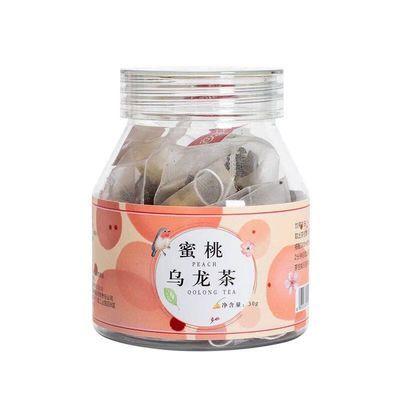 [送花茶勺]蜜桃乌龙茶10包/瓶水果花茶组合花茶三角袋泡茶花果茶