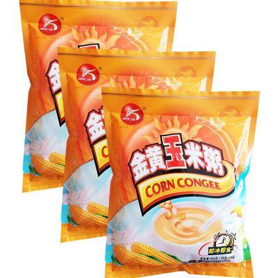康汇佳 金黄玉米粥3袋组合装*350g(10小包)即冲即食香甜口味