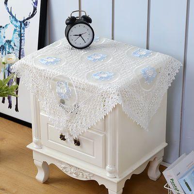 镂空蕾丝电饭煲盖巾床头柜微波炉小圆桌茶几布防尘罩多用万能盖布