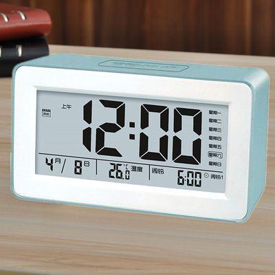 充电闹钟学生静音床头电子数字简约创意智能多功能小闹铃儿童夜光