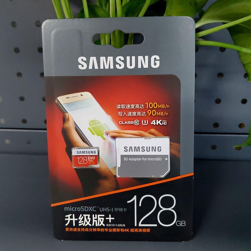 IPX7级防水,读取100mb/s:三星 128GB TF储存卡 U3 4K EVO升级版
