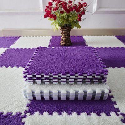 【买二送一】拼接地毯拼图泡沫地垫加厚绒面卧室客厅满铺爬爬垫