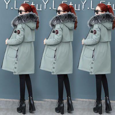 冬季派克服棉衣女装2019年新款冬装棉袄外套中长款加厚羽绒棉服潮主图