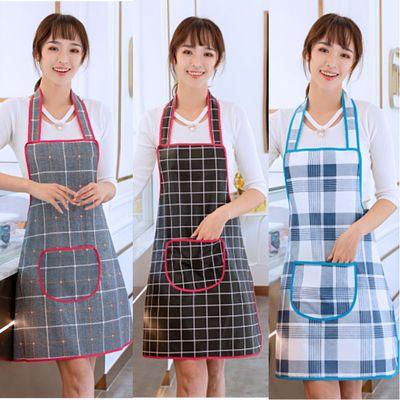 围裙防水防油防污工作围裙罩衣韩版透气款可爱女工作服卡通围裙