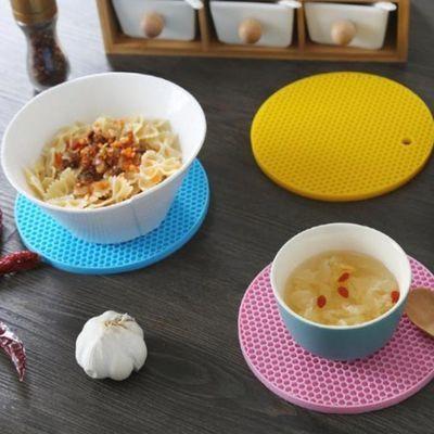 【2/6/8个装12小时秒发】硅胶隔热垫硅胶食品级杯垫餐垫防烫防滑