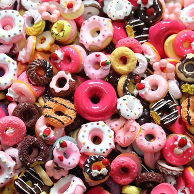 100个超值福袋蛋糕食玩甜甜圈奶油仿真手机壳制作diy材料包配件