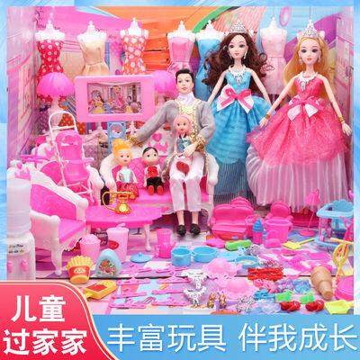 芭比娃娃套装大礼盒公主一套别墅婚纱过家家屋衣服长发玩具儿童节
