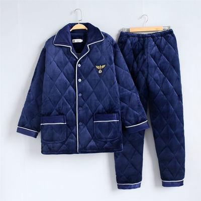 【新品冲量 亏本600件】加厚睡衣男士款冬季加绒法兰绒家居服套装
