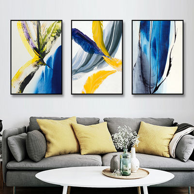 客厅装饰画现代简约沙发背景墙画挂画北欧风格壁画卧室抽象三联画