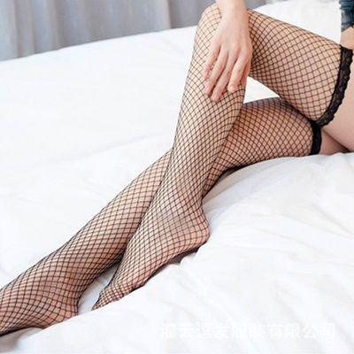 RQ蕾丝性感超薄款透明长中筒花边情趣丝袜镂空渔网袜0000防勾丝