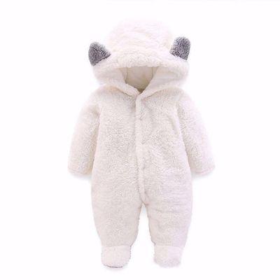 高档品牌女宝宝衣服[两件送袜子]婴儿秋冬季加厚保暖连体衣哈衣