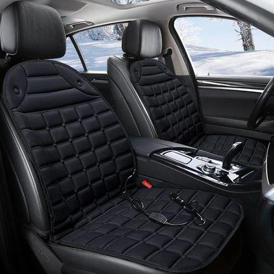 汽车加热坐垫冬季车垫车载通用座椅座垫12V车用冬天毛绒电热垫子