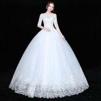 大码加大秀禾服新娘2019新款中式礼服孕妇婚纱显瘦200斤胖mm