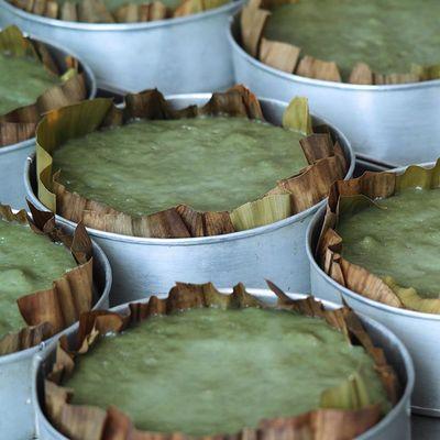 江山廿八都古镇特产手工无添加水磨艾草青团糍粑年糕铜锣糕