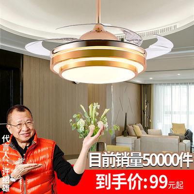 餐厅卧室风扇灯吸顶隐形吊扇灯带风扇吊灯北欧现代简约 led客厅灯