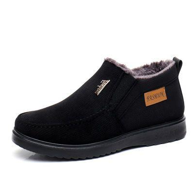 老北京布鞋男棉鞋冬季加绒中老年棉鞋软底爸爸鞋保暖防滑男棉靴子