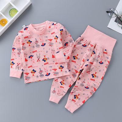 婴儿内衣套装高腰护肚0-1-3岁4彩棉男宝宝秋衣秋裤彩棉女儿童保暖