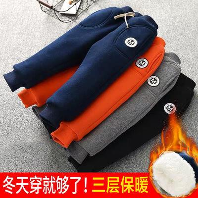 宝宝棉裤冬装男童女童0-6岁加绒加厚长裤婴幼儿童三层外穿保暖-裤