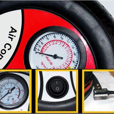 [爆款]汽车车载轮胎打气泵车用电动12V便捷式点烟器充气泵多功能