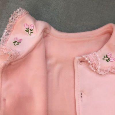 纯棉秋冬宝宝刺绣翻领打底衫蕾丝领衬衫男女童0-6岁娃娃领开衫