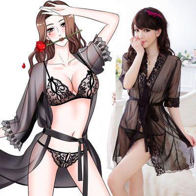性感情趣内衣内裤极度诱惑睡衣女士开裆免脱激情全透明睡裙骚用品
