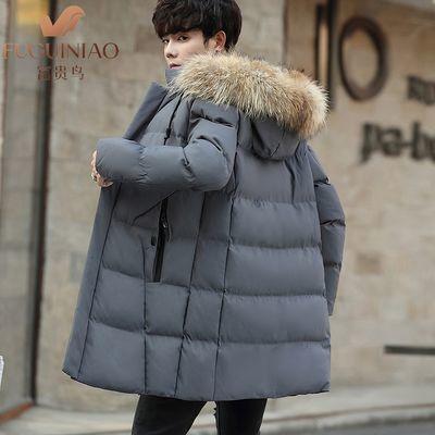 【富贵鸟】男士中长款棉衣男韩版外套加厚棉服男冬季大码棉袄男装