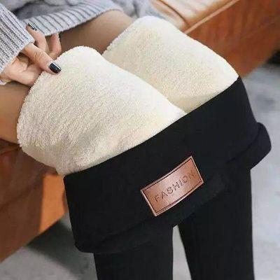 冬季超厚东北羊羔绒打底裤女冬天新款加绒加厚外穿高腰特厚