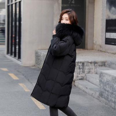 【品牌特卖】雅鹿羽绒服女装中长款宽松加厚大毛领宽松显瘦外套潮