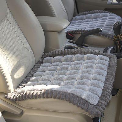 冬季毛绒汽车坐垫三件套无靠背通用汽车座垫单片汽车用品轿车坐垫