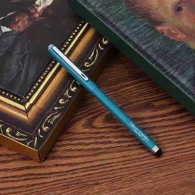 文具梵高博物馆梵高画作系列金属中性笔带pad电容头水笔