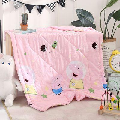 儿童空调被夏凉被纯手工宽包边婴幼儿园单人可机洗卡通午睡小被子