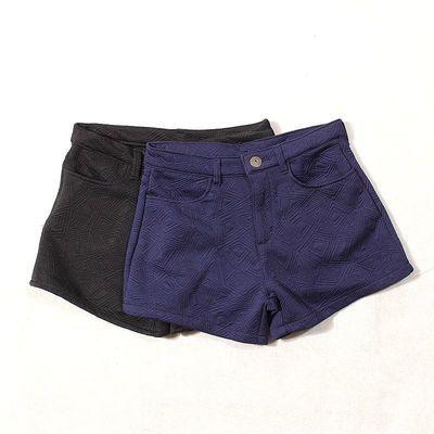 E101时尚泡泡棉休闲裤日单原单弹力春秋新品阔腿显瘦短裤潮0.2