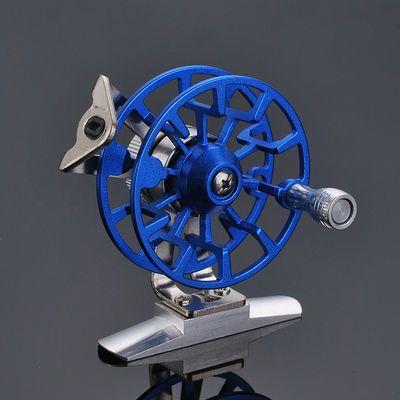 新款鱼线轮全金属带泄力前打轮渔轮矶竿冰钓轮渔线鱼轮冬钓飞钓轮