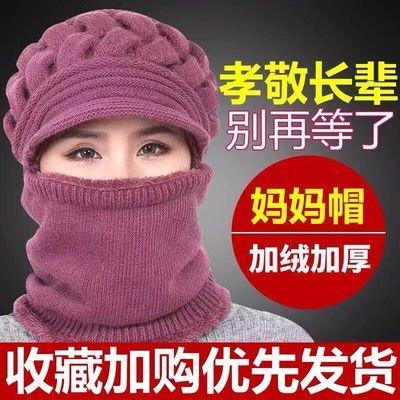 【新款】妈妈棉帽子女秋冬季中老年电动车骑车冬天保暖神器加绒女主图