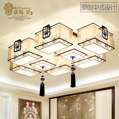 新中式吸顶灯客厅灯具套餐led卧室灯饰大厅吊灯书房餐厅长方形灯
