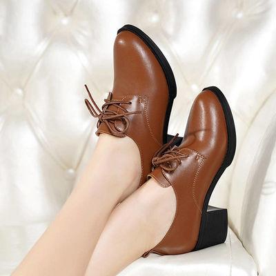 马丁靴女英伦风2019新款女皮鞋粗跟中跟女短靴拉链休闲时尚棉鞋女
