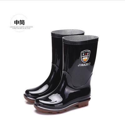 特种三防专用雨靴男高筒中筒防滑牛筋底加厚工矿劳保水鞋46码雨鞋