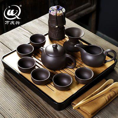 茶具套装带茶盘功夫茶具套装便捷茶壶茶具整套 陶瓷茶具茶杯