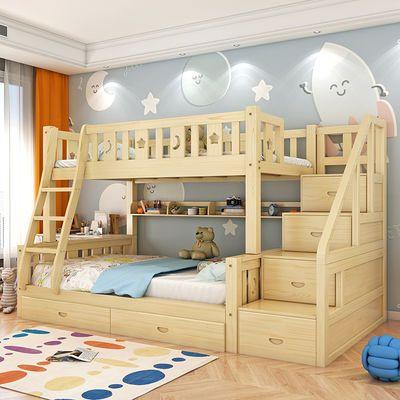 实木高低床成人上下床儿童床双层床母子床子母床实木两层床上下铺