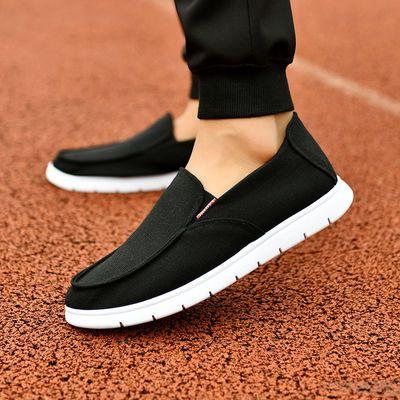 老北京布鞋男士新款透气帆布鞋软底一脚蹬单鞋司机鞋男防滑工作鞋
