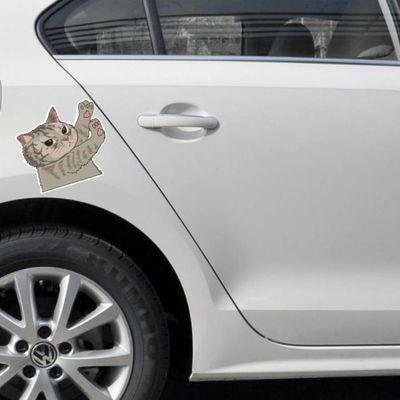 汽车个性动漫卡通猫咪车贴创意搞笑贴纸车身划痕贴车门车尾装饰贴