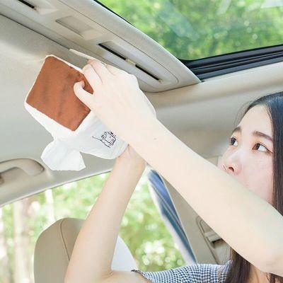 新款卡通创意毛绒车载纸巾盒 汽车天窗挂式遮阳板车内车上车用抽