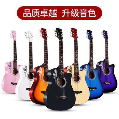 热销吉他初学者38寸41寸民谣木吉他新手入门学生成人练习吉他男女