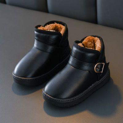 冬季儿童雪地靴中筒男女童棉靴东北加厚款防滑保暖靴雪地鞋童靴冬