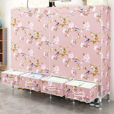 新款衣柜简易布衣柜带布艺抽屉百搭钢管组装储物收纳衣橱挂衣架子