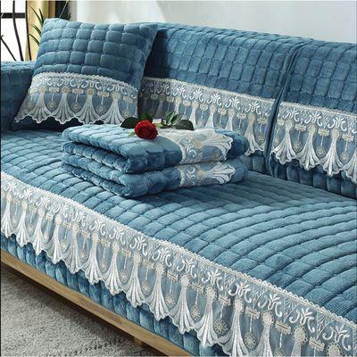 冬季毛绒沙发垫加厚防滑简约现代沙发巾罩北欧万能沙发套全包定做
