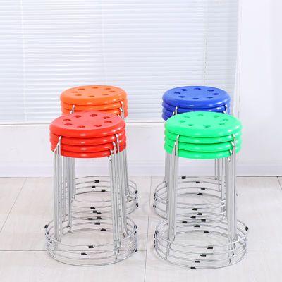 热销塑料套凳时尚圆凳子家用餐凳折叠凳子椅子八孔凳方凳皮凳包邮