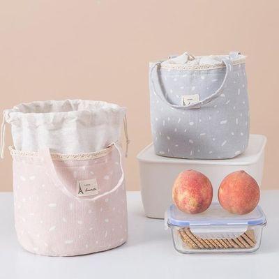 保温布袋冷藏创意手提学生保温饭盒袋携便收纳袋保鲜提包快餐布带【3月10日发完】