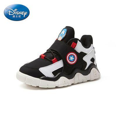 Disney迪士尼美国队长系列冬季新款儿童鞋户外运动休闲保暖男童鞋